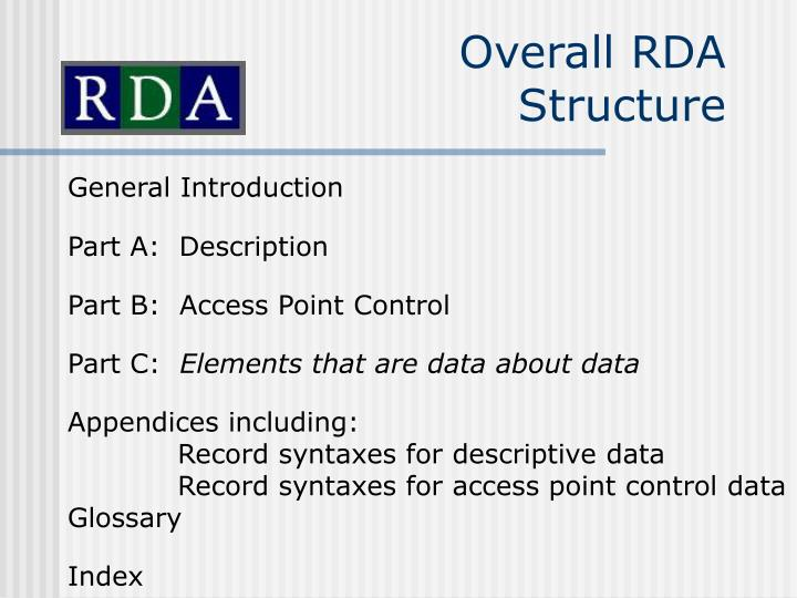 Overall RDA Structure