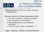 part a 6 persons families and corporate bodies