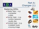 part a changes 1