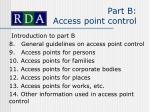part b access point control