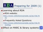 preparing for 2009 1