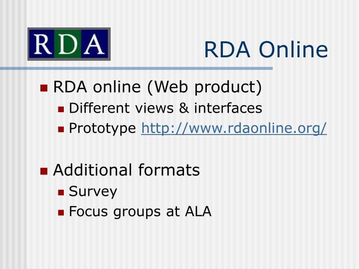RDA Online