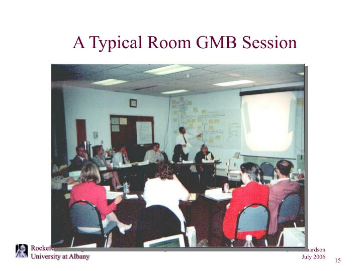 A Typical Room GMB Session