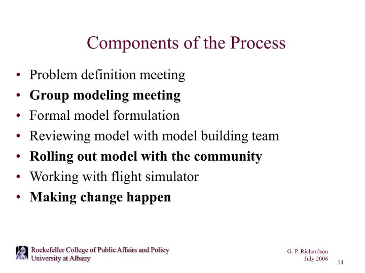 Components of the Process