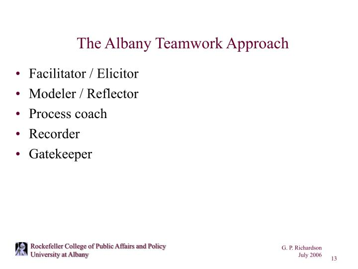 The Albany Teamwork Approach