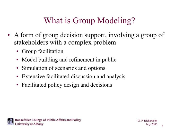 What is Group Modeling?