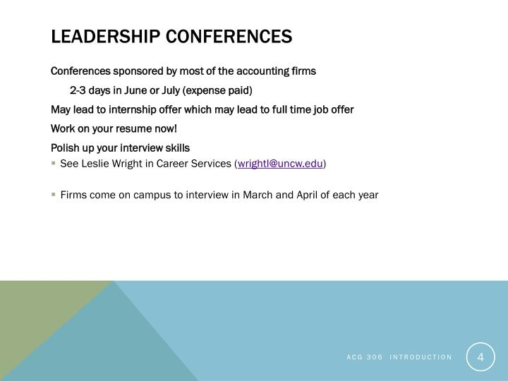 Leadership Conferences