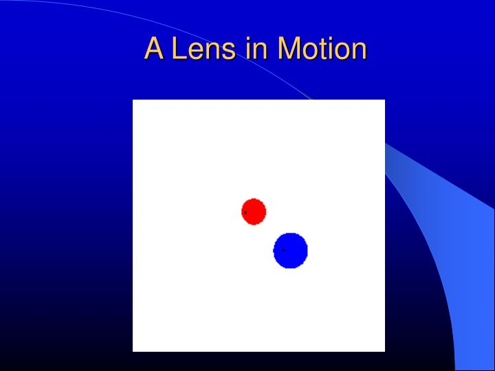 A Lens in Motion