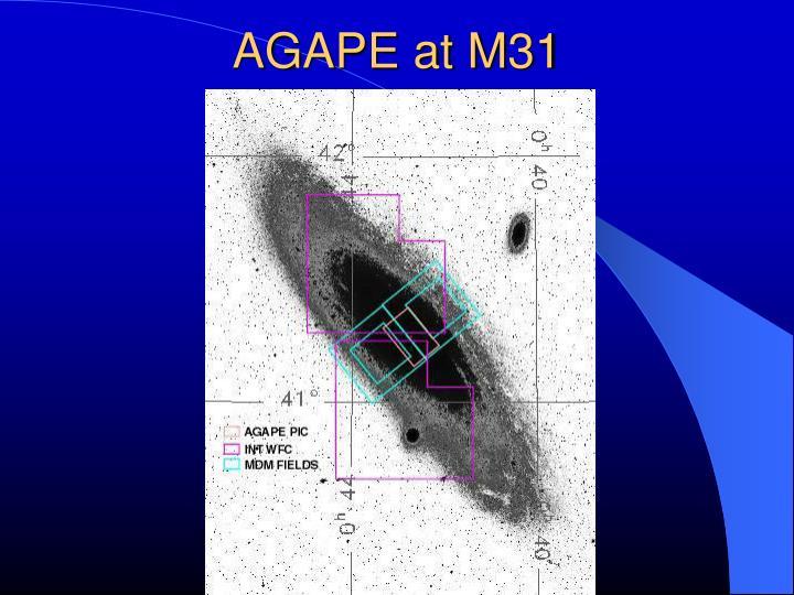 AGAPE at M31