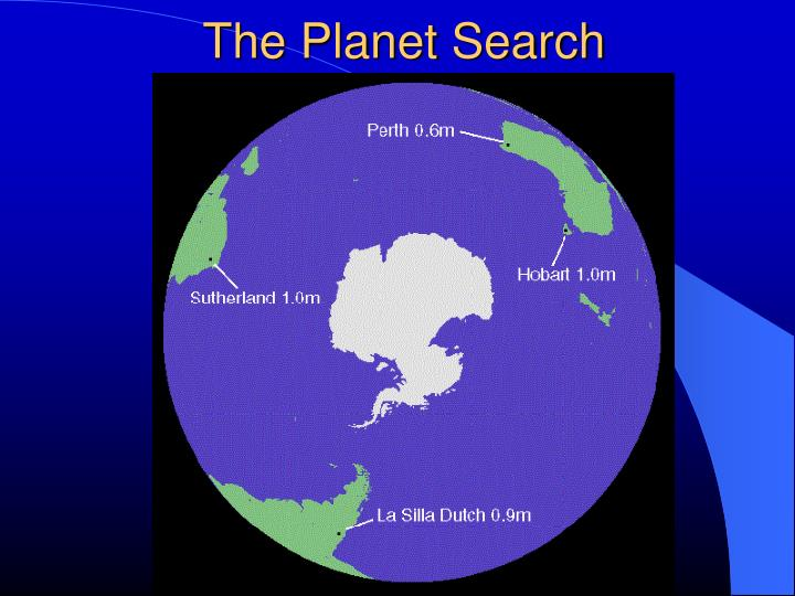 The Planet Search