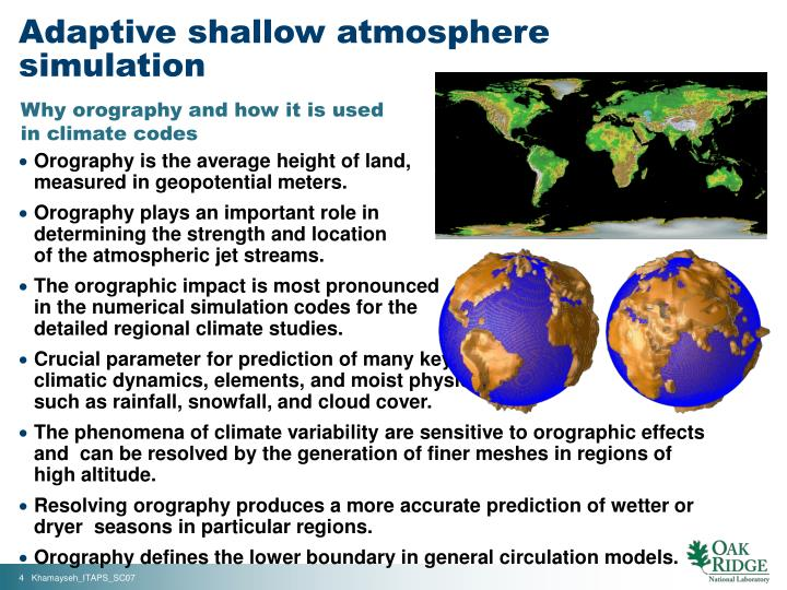 Adaptive shallow atmosphere simulation