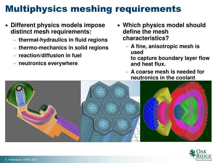 Multiphysics meshing requirements