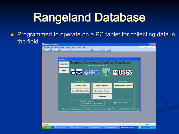 Rangeland Database