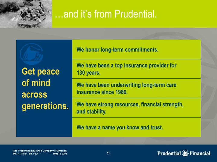 …and it's from Prudential.