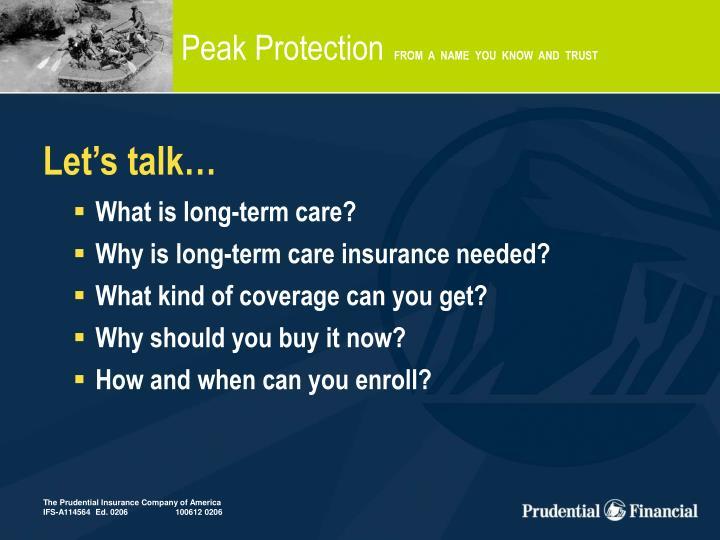 Peak Protection