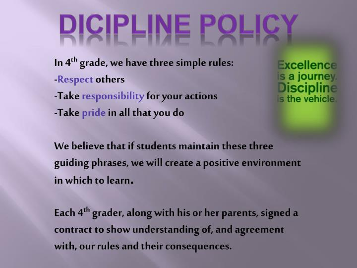 Dicipline