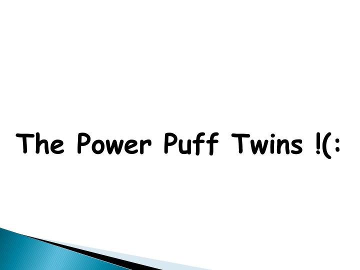 The Power Puff Twins !(: