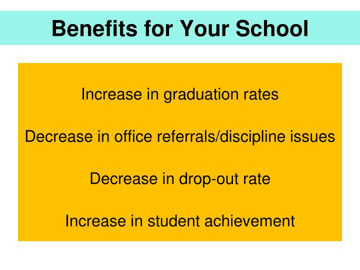 Benefits for Your School