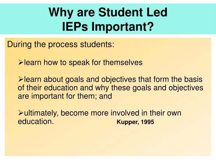 Why are Student Led