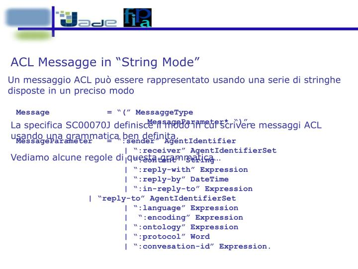 """ACL Messagge in """"String Mode"""""""