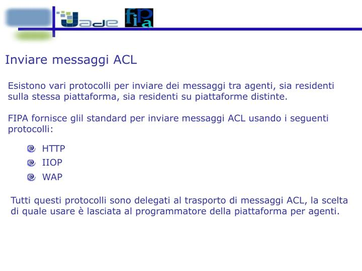 Inviare messaggi ACL