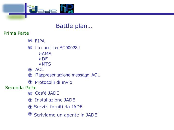 Battle plan…