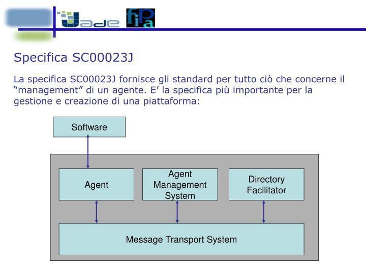 Specifica SC00023J