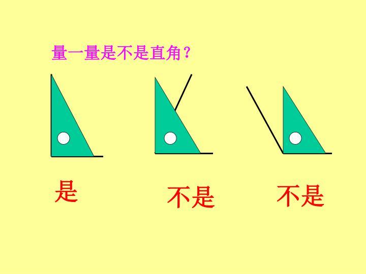 量一量是不是直角?