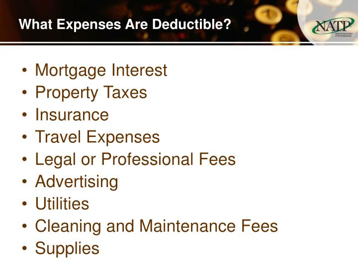What Expenses Are Deductible?