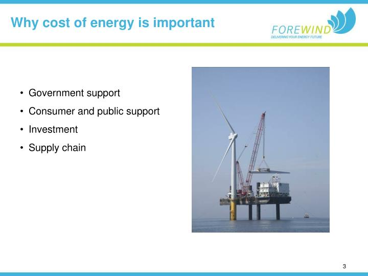 Why cost of energy is important
