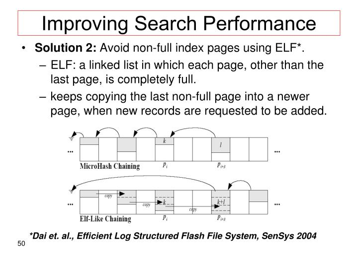 Improving Search Performance