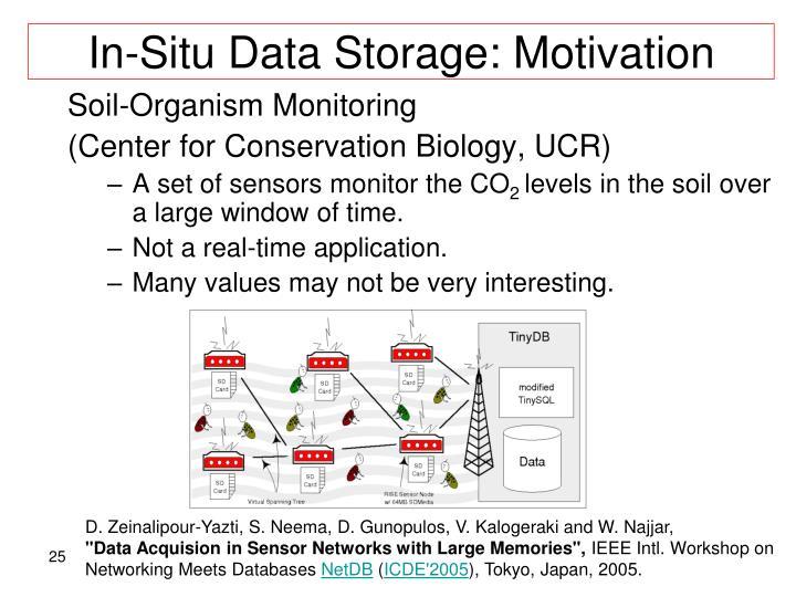 In-Situ Data Storage: Motivation