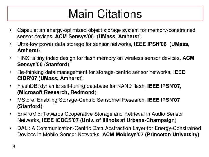 Main Citations