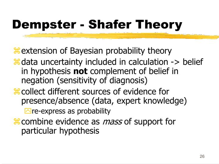 Dempster - Shafer Theory