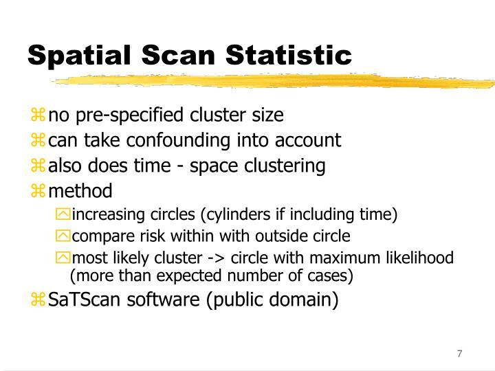 Spatial Scan Statistic
