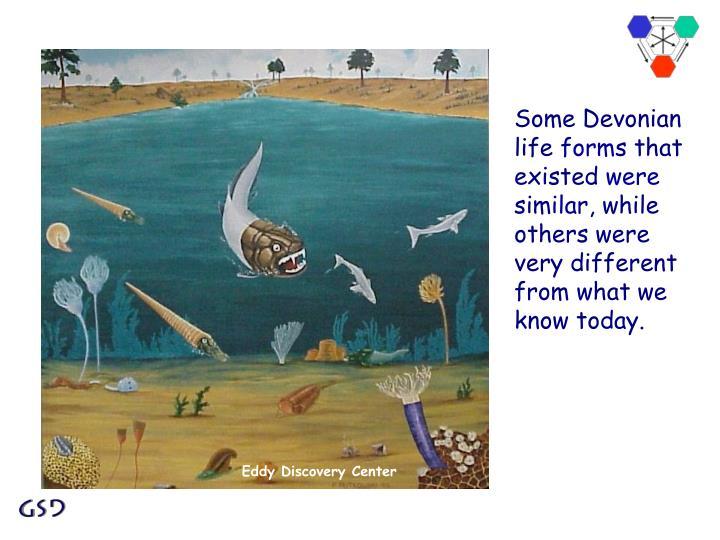 Some Devonian life