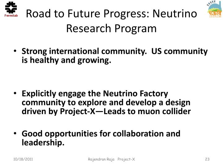 Road to Future Progress: Neutrino Research Program