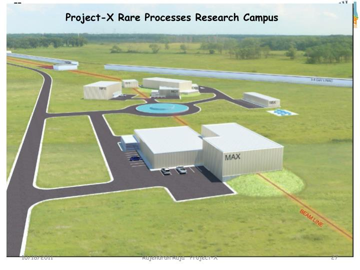 Project-X Rare Processes Research Campus