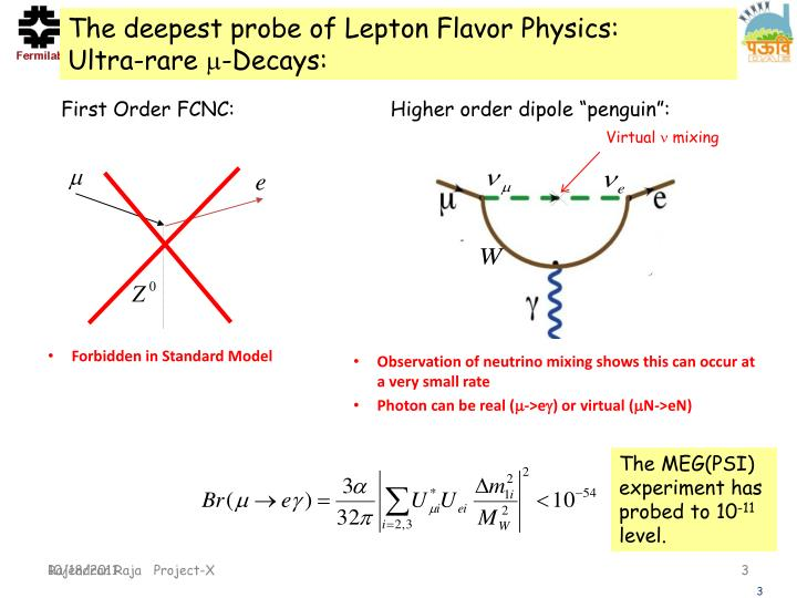 The deepest probe of Lepton Flavor Physics:       Ultra-rare
