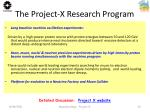the project x research program