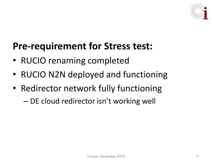 Pre-requirement for Stress test:
