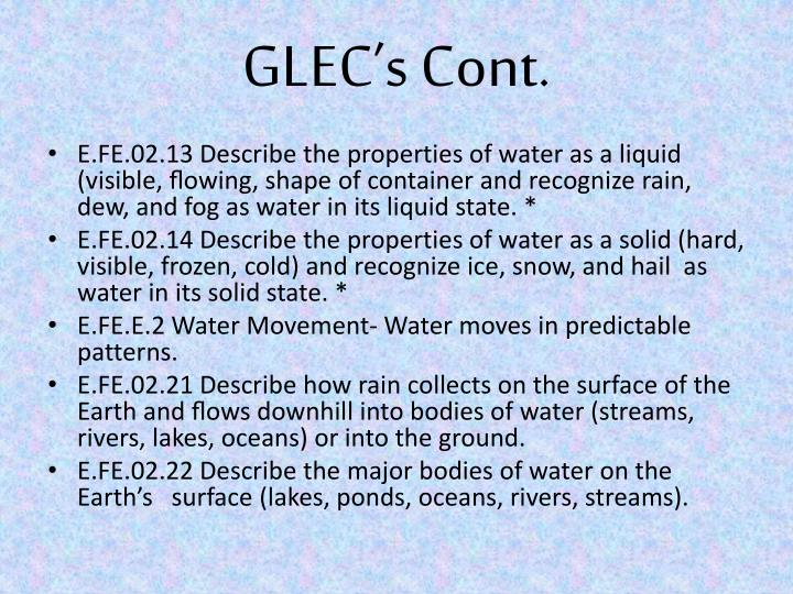 GLEC's Cont.