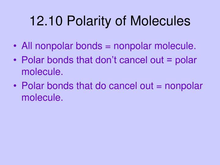 12.10 Polarity of Molecules