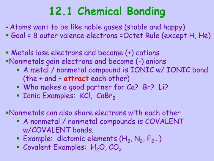 12.1 Chemical Bonding