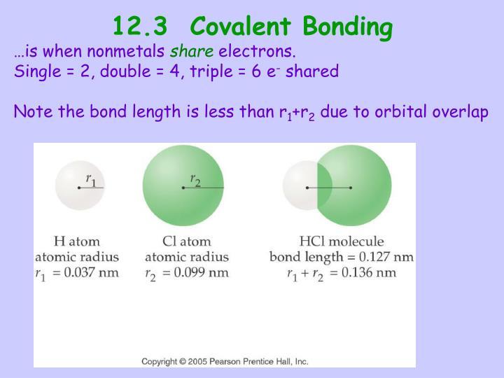 12.3  Covalent Bonding