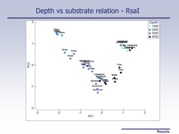 Depth vs substrate relation - RsaI