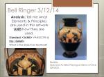 bell ringer 3 12 14