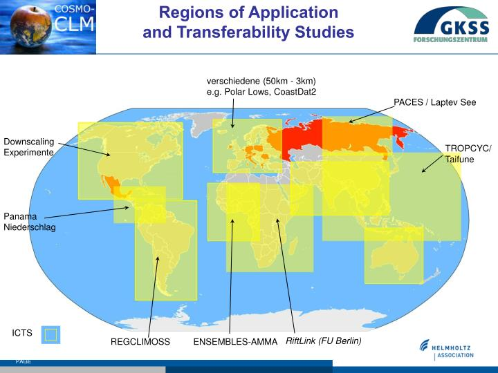 Regions of Application