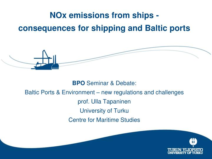 NOx emissions from ships -