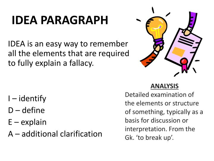 IDEA PARAGRAPH